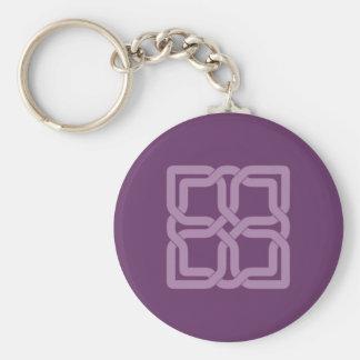 Mystic Lilac celtic knot Key Ring