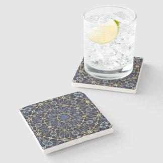 Mystic mandala stone beverage coaster
