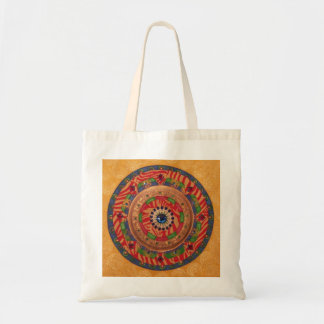 Mystic Mandala: Unique Painting Tote