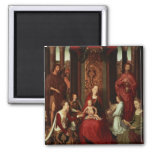 Mystic Marriage of St. Catherine and Other Saints Square Magnet