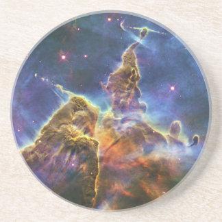 Mystic Mountain Carina Nebula HH 901 HH 902 Sandstone Coaster
