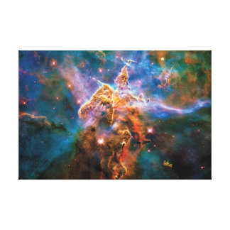 Mystic Mountain Carina Nebula Hubble Space Photo Canvas Print