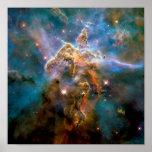 Mystic Mountain Carina Nebula Poster