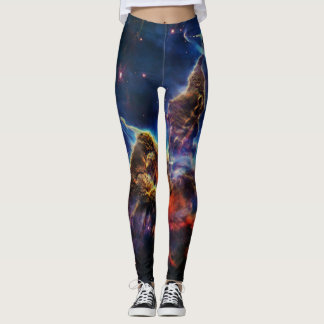 Mystic Mountain in Space NASA Leggings