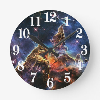 Mystic Mountain in Space NASA Round Clock