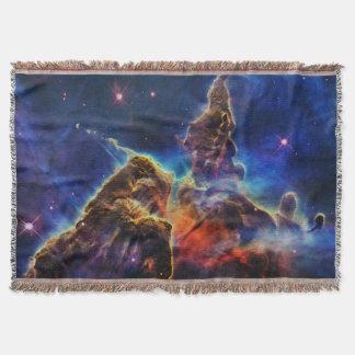 Mystic Mountain in Space NASA Throw Blanket