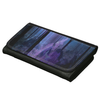 Mystic Night Leather Wallet For Women