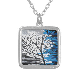 Mystic Night Silver Plated Necklace