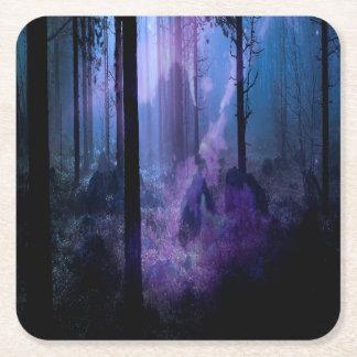 Mystic Night Square Paper Coaster