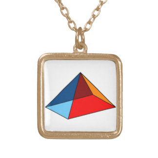 Mystic Primary-Colored Pyramid Necklace