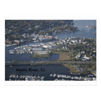 Mystic River, Ct Postcard