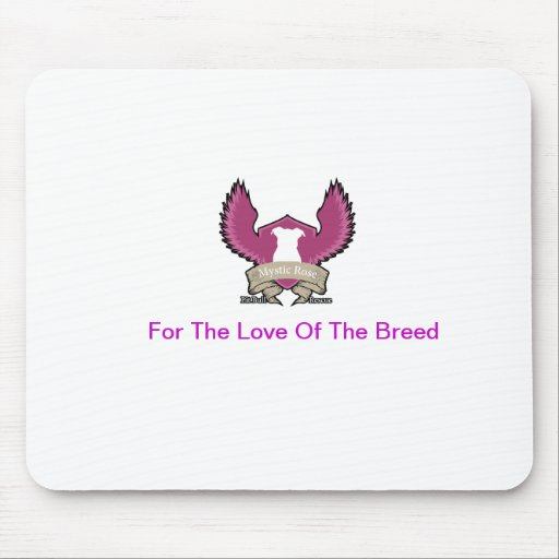 Mystic Rose Pit Bull Rescue Mouse Pad