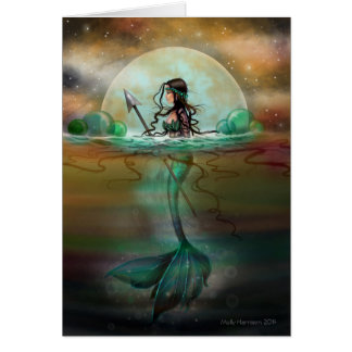 Mystic Sea Mermaid Fantasy Art by Molly Harrison Card