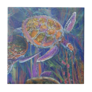 Mystic Sea Turtles Ceramic Tile