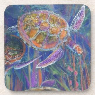 Mystic Sea Turtles Drink Coasters