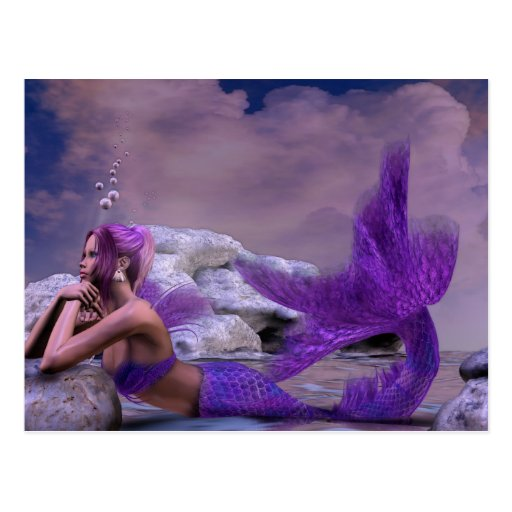Mystic Siren Fantasy Mermaid Art Post Cards