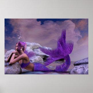 Mystic Siren Fantasy Mermaid Artwork Poster