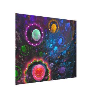 Mystic space canvas print