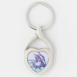 mystic swan key ring