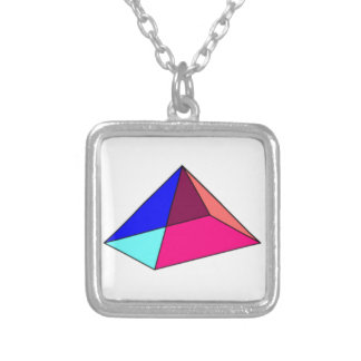 Mystic Tertiary-Colored Pyramid Necklace