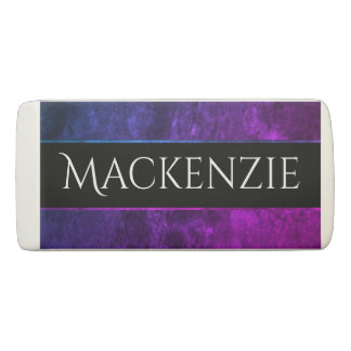 Mystic-Topaz Office | Name Chic Purple Pink Blue Eraser