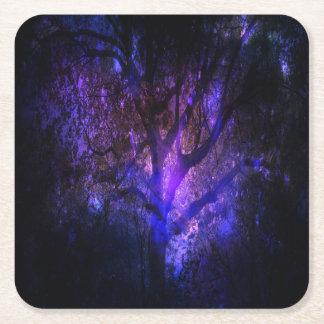 Mystic Tree Square Paper Coaster