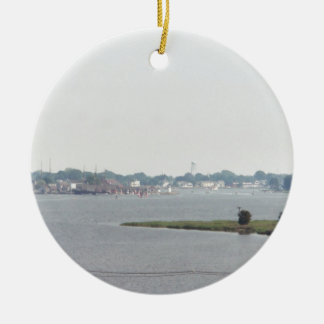 Mystic view ceramic ornament
