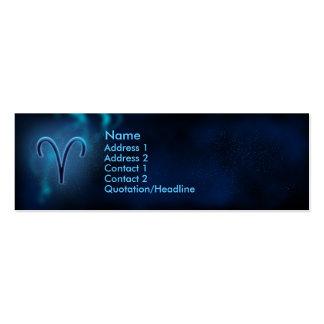 Mystic Zodiac - Aries Business Card