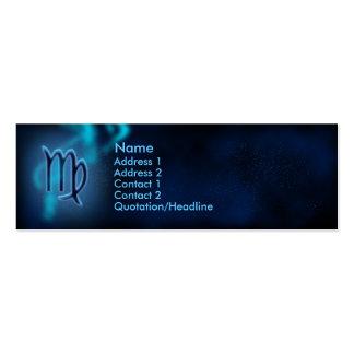 Mystic Zodiac - Virgo Business Card Templates