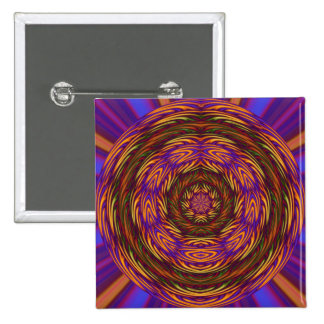Mystical Abstract 15 Cm Square Badge