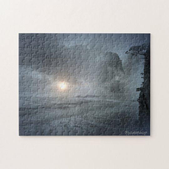 Mystical Beach Scenic View Artwork Puzzle