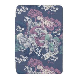 Mystical Blue Purple floral sketch artsy pattern iPad Mini Cover