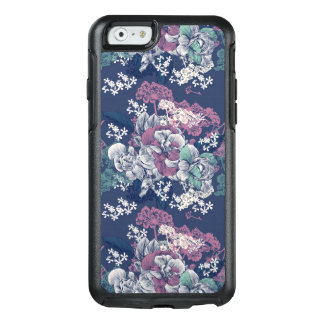 Mystical Blue Purple floral sketch artsy pattern OtterBox iPhone 6/6s Case
