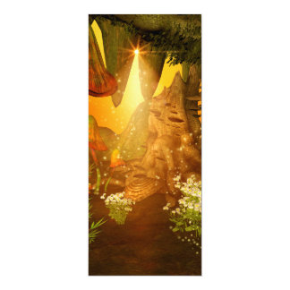 Mystical cave with mushrooms 4x9.25 paper invitation card