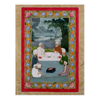 Mystical conversation between Sufic sheikhs Postcard