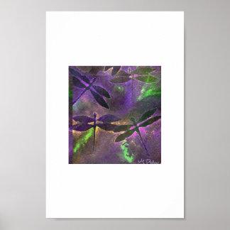 mystical dragonflies poster