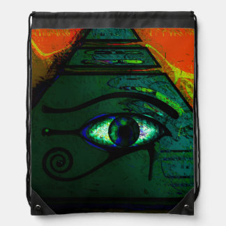 Mystical Egyptian Eye of Horus Drawstring Bag