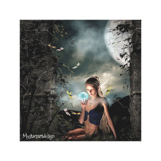 Mystical Fairy Fantasy Art Wrapped Canvas