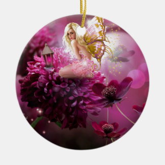 Mystical Fairy Garden Ceramic Ornament
