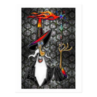 Mystical Fire Wizard Magician Postcard