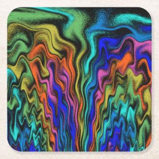 Mystical Flames Square Paper Coaster