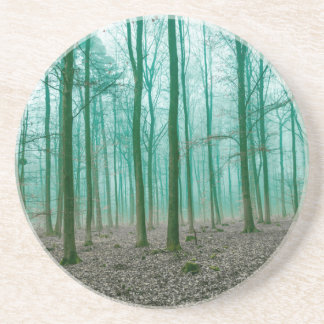 Mystical Forest in the fog in Green Coasters