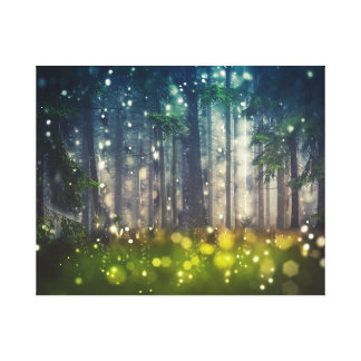 Mystical Forest - Trees, Twilight Landscape Canvas Print