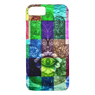 Mystical Hamsa Eye Rainbow Chakra Art iPhone 7 Case