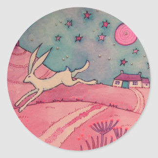 Mystical Hare Classic Round Sticker