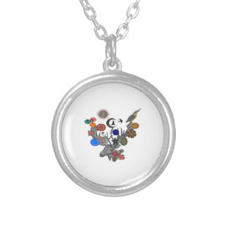 MYSTICAL IN NATURE SILVER PLATED NECKLACE