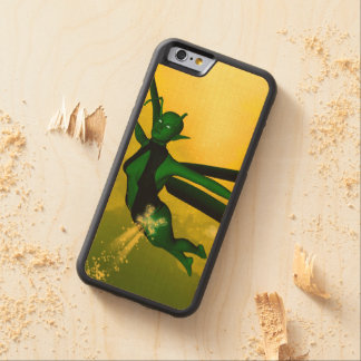 Mystical insects carved® maple iPhone 6 bumper case