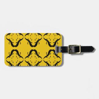 Mystical mandalas black on gold luggage tag