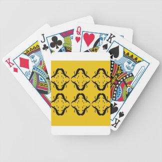 Mystical mandalas black on gold poker deck