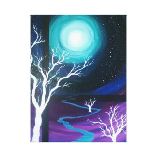 Mystical Moon River Dreams Canvas Print